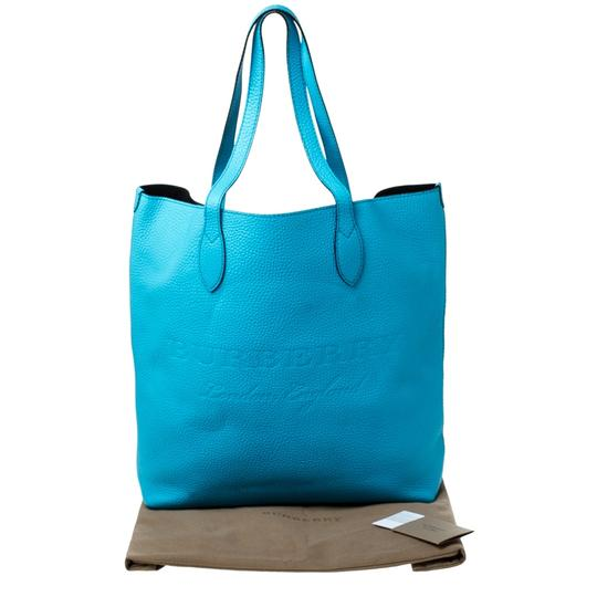 Burberry Leather Suede Tote in Blue Image 10