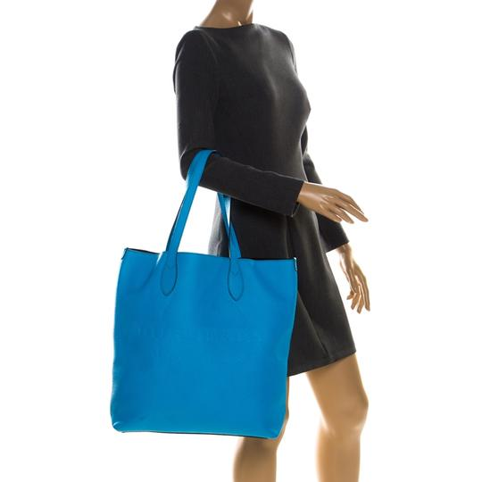 Burberry Leather Suede Tote in Blue Image 2