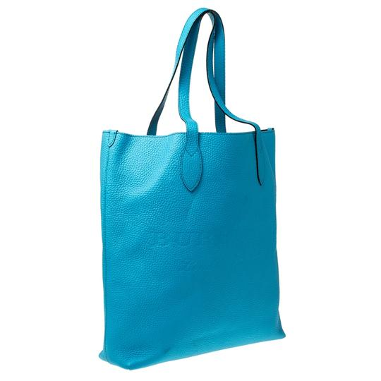 Burberry Leather Suede Tote in Blue Image 3