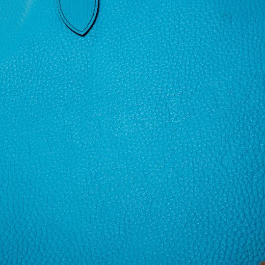 Burberry Leather Suede Tote in Blue Image 7