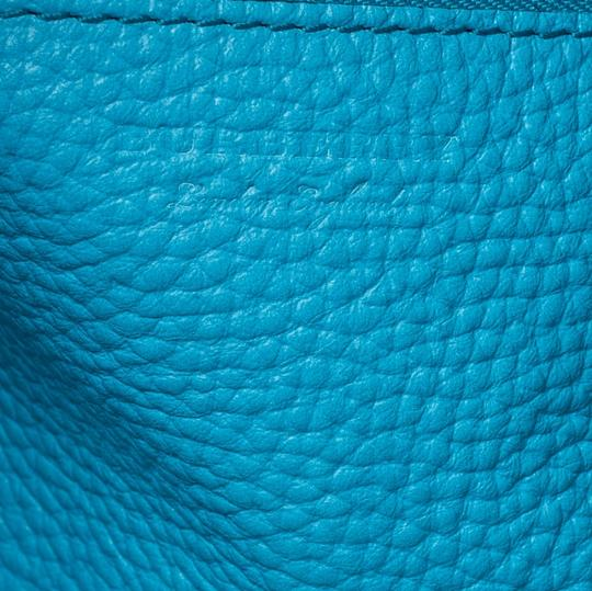 Burberry Leather Suede Tote in Blue Image 9