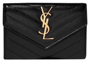Saint Laurent monogram quilted leather small wallet