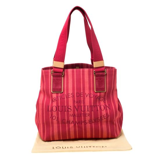 Louis Vuitton Tote in Red Image 11