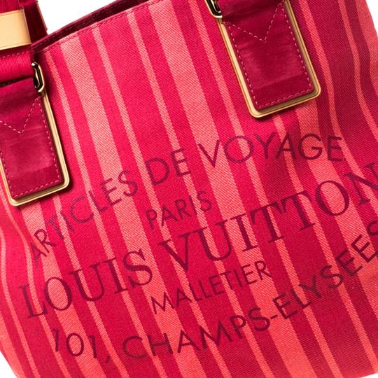 Louis Vuitton Tote in Red Image 8