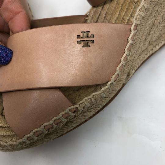 Tory Burch Golden natural Wedges Image 4
