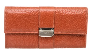 Gucci Gucci Orange Leather Long Wallet