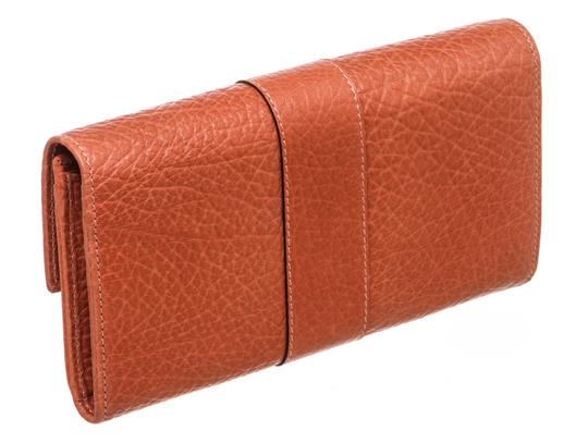 Gucci Gucci Orange Leather Long Wallet Image 2