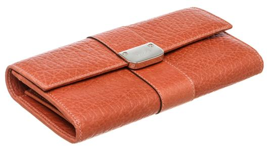 Gucci Gucci Orange Leather Long Wallet Image 3