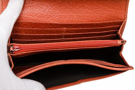 Gucci Gucci Orange Leather Long Wallet Image 4