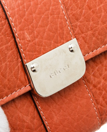 Gucci Gucci Orange Leather Long Wallet Image 5