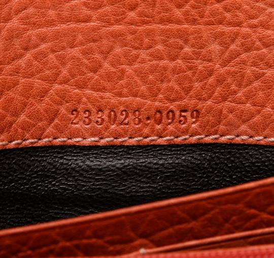 Gucci Gucci Orange Leather Long Wallet Image 6