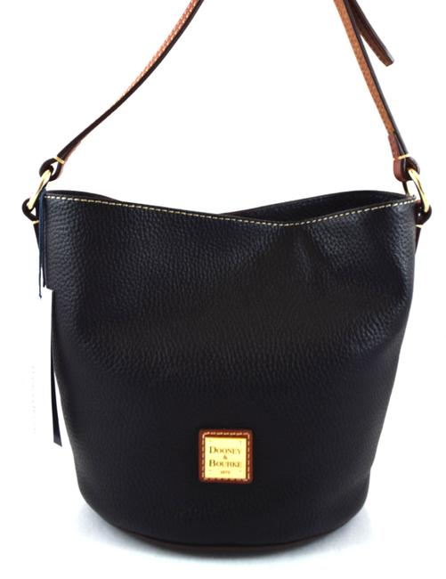 Item - Small Thea Black/Brown Leather Messenger Bag