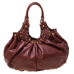 Gucci Leather Studded Hobo Bag