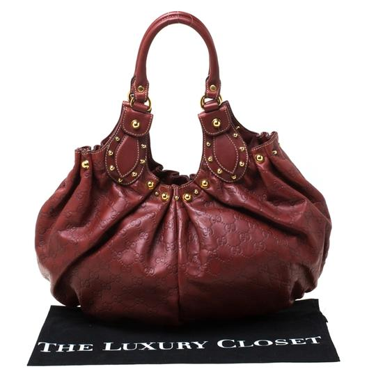 Gucci Leather Studded Hobo Bag Image 9