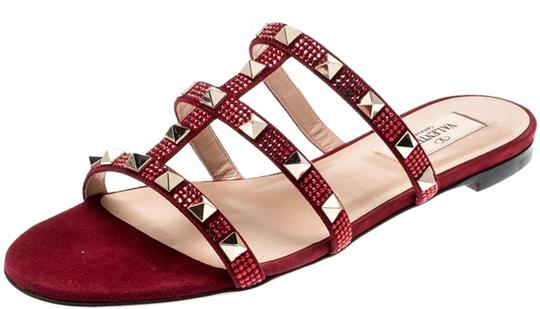 Valentino Suede Red Flats Image 0