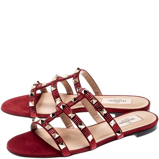 Valentino Suede Red Flats Image 4