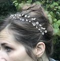 Other Delicate Floral Headpiece Flower Garland Pearl Bridal Crown Image 8