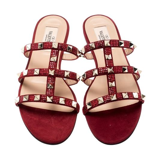 Valentino Suede Red Flats Image 1