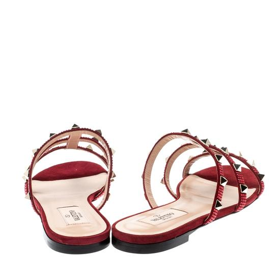 Valentino Suede Red Flats Image 2