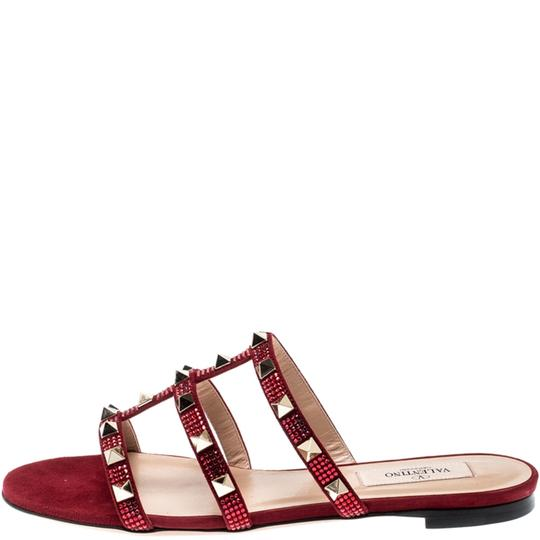 Valentino Suede Red Flats Image 3
