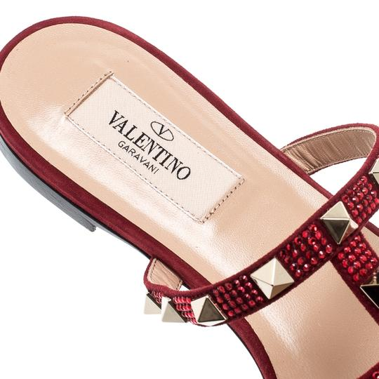 Valentino Suede Red Flats Image 5