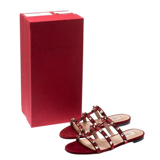 Valentino Suede Red Flats Image 6