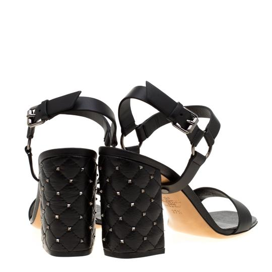 Valentino Leather Black Sandals Image 2