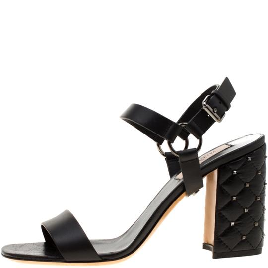 Valentino Leather Black Sandals Image 3
