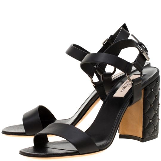 Valentino Leather Black Sandals Image 4