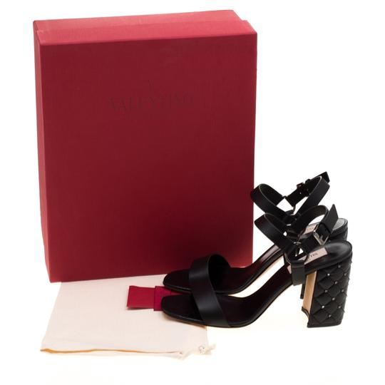 Valentino Leather Black Sandals Image 6