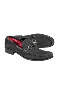 Ferragamo Loafers Gray Suede Loafer Pumps