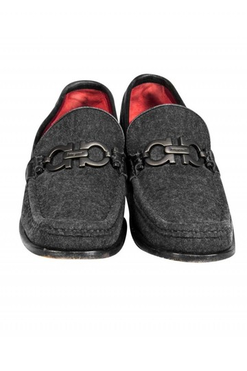 Ferragamo Loafers Gray Suede Loafer Pumps Image 1