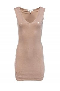 Robert Rodriguez Nude Sequin Dress