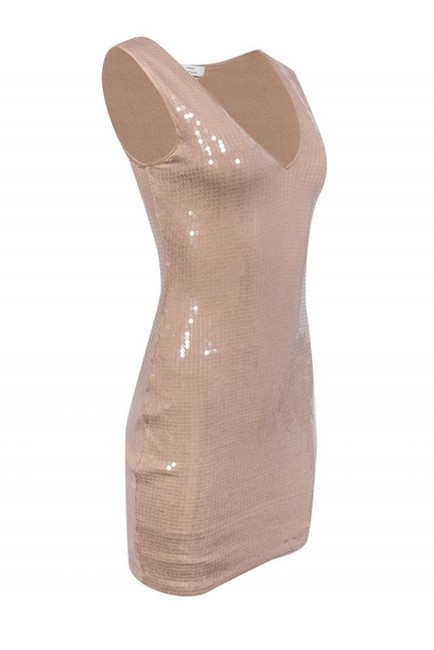 Robert Rodriguez Nude Sequin Dress Image 1
