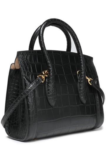 Alexander McQueen Calfskin Leather Designer Handbag Tote in Black Image 0