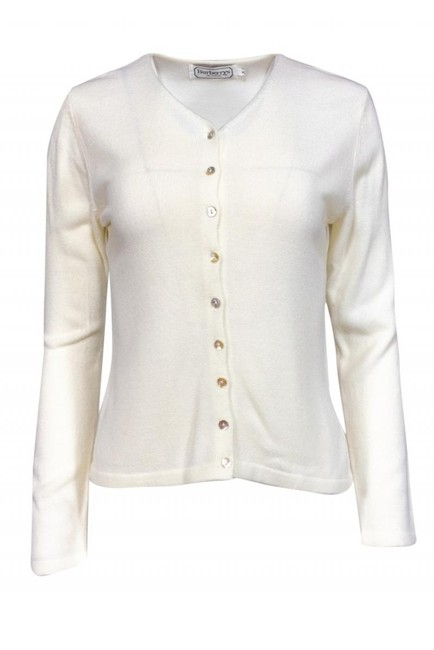 Burberry Jackets Ivory Knit Cardigan Image 0