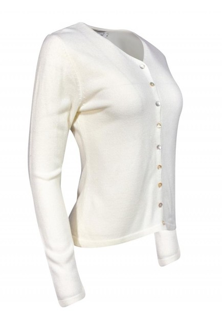 Burberry Jackets Ivory Knit Cardigan Image 1