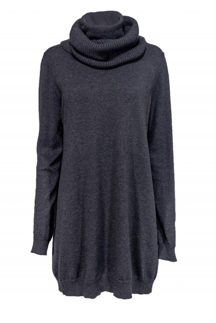 Theory Grey Cotton Cashmere Sweater Image 0