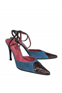 Sergio Rossi Anklestrap Anklewrap Dusty blue Pumps