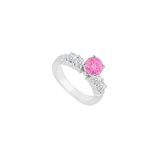 Preload https://img-static.tradesy.com/item/26116654/pink-created-sapphire-and-cubic-zirconia-engagement-ring-0-0-540-540.jpg
