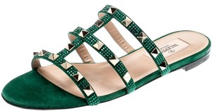 Valentino Suede Green Flats