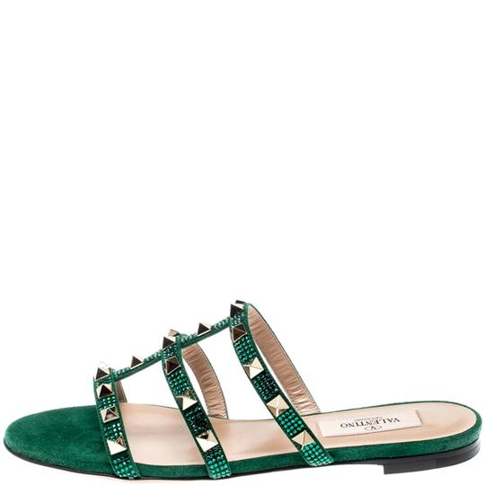 Valentino Suede Green Flats Image 4