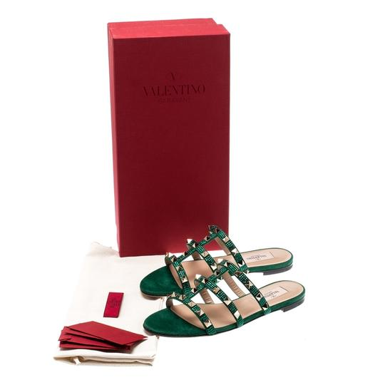 Valentino Suede Green Flats Image 5