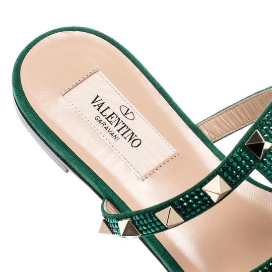 Valentino Suede Green Flats Image 6