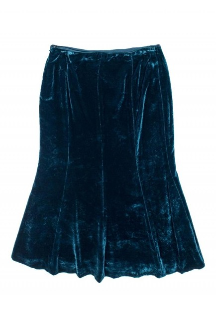 Moschino Teal Wool Blend Skirt Image 1