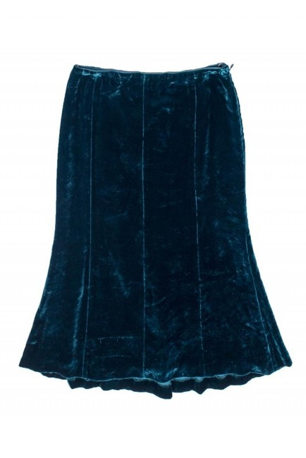 Moschino Teal Wool Blend Skirt Image 2