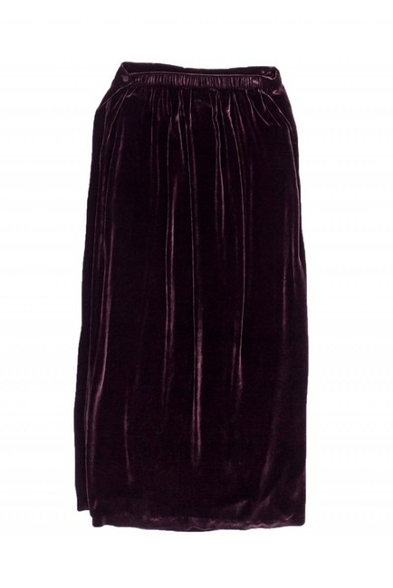 Eileen Fisher Wine Velvet Maxi Skirt Image 1