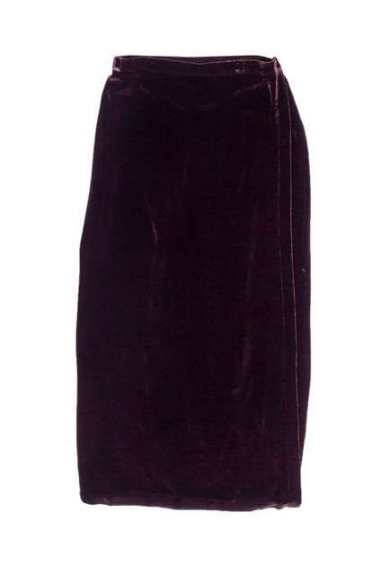 Eileen Fisher Wine Velvet Maxi Skirt Image 2