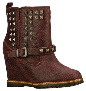 Skechers Boot Wedge Maroon leather Boots