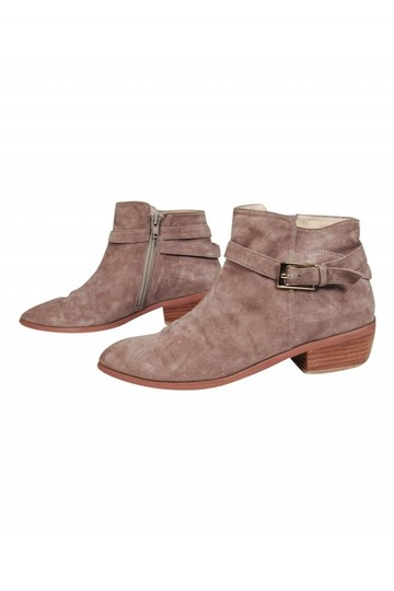 Barney's New York Taupe Suede Boots Image 2